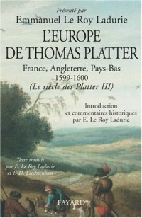 L'Europe de Thomas Platter (1599-1600)