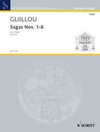 SCHOTT GUILLOU JEAN - SAGAS NOS. 1-6 OP. 20 - ORGAN Partition classique Piano - instrument à clavier Orgue