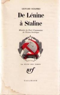 De Lénine à Staline : Histoire du Parti Communiste de l'Union soviétique
