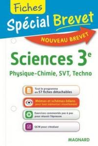 Spécial Brevet - Fiches Sciences 3e