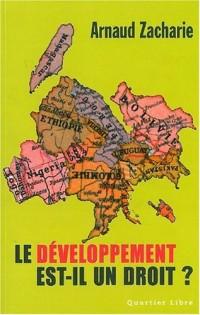 Le développement est-il un droit ?