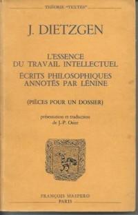 L'Essence du travail intellectuel humain