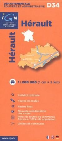D34 Herault 1/200.000