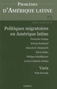 Migrations (N.75 Hiver 2009-2010)