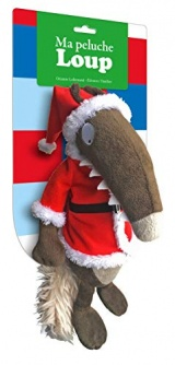 Ma peluche Loup habillée : Noël