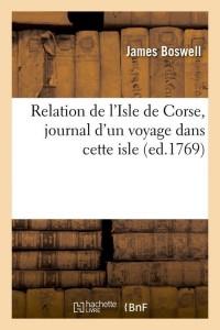 Relation de l Isle de Corse  ed 1769