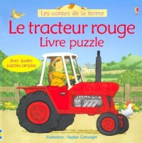 Le tracteur rouge : Livre puzzle