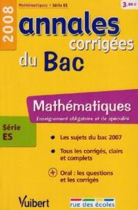 Mathématiques série ES : Annales corrigées du Bac