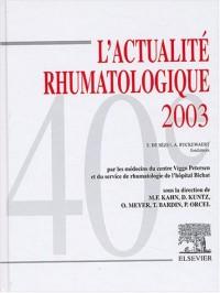L'actualité rhumatologique 2003