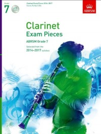 ABRSM Exam Pieces 2014-2017 Grade 7 Clarinet/Piano (Book/2 CDs). CD, Partitions pour Clarinet, Piano Accompaniment