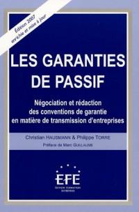 Les garanties du passif : Négociation et rédaction des conventions de garantie en matière de transmission d'entreprises