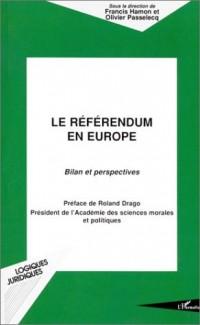 Le référendum en Europe : Bilan et perspectives