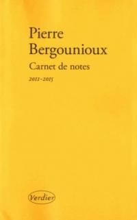 Carnet de notes 2011-2015