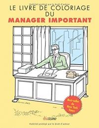 Le livre de coloriage du manager important