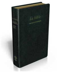 Bible Second 21 Fibrocuir Noir Souple Tranche Or Rouge