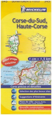 Carte Routiere 345 Corse du Sud/Haute-Corse