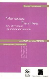 Ménages et Familles en Afrique subsaharienne
