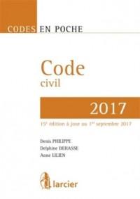 Code en poche - Code civil 2017: À jour au 1er septembre 2017