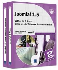 Joomla! 1.5 - Coffret de 2 livres : Créez un site Web avec du contenu Flash