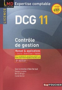 DCG 11 Contrôle de gestion, Expertise comptable : Manuel & applications, cours, exercices, tables