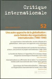 Critique Internationale N52