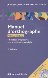 Manuel d'orthographe, mise à niveau