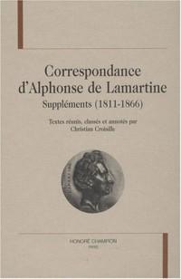 Correspondance d'Alphonse de Lamartine : Suppléments (1811-1866)