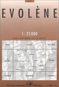 Carte de randonnée : Evolène