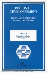 Région et Développement, N° 14-2001 : Intégration régionale et développement