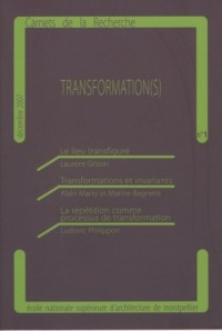 Carnets de la recherche TRANSFORMATION(S)