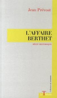 L'Affaire Berthet