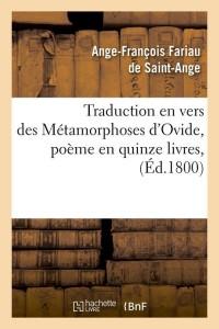 Traduction Métamorphoses d Ovide  ed 1800