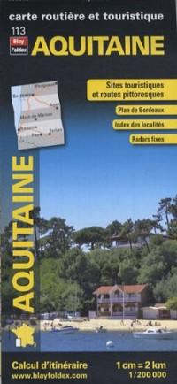 Aquitaine, carte régionale, routière et touristique