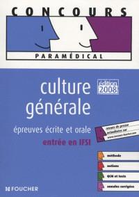 Culture générale : Epreuves écrite et orale, entrée en IFSI
