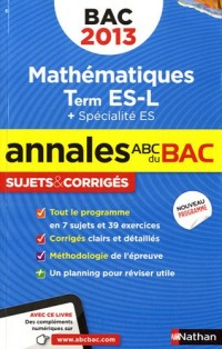 Annales bac 2013 maths es obli spi corriges n04