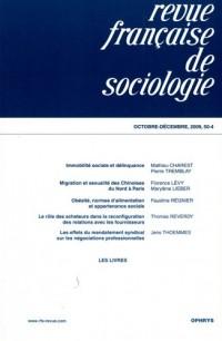 Revue française de sociologie, N° 50-4, Octobre-déc :