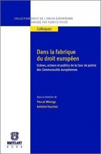 Dans la fabrique du droit européen : Scènes, acteurs et publics de la Cour de justice des Communautés européennes