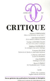 Critique, N° 707 :