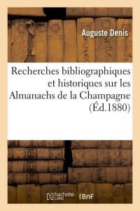 Recherches Almanachs Champagne  ed 1880