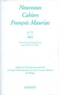 Nouveaux Cahiers François Mauriac N 11