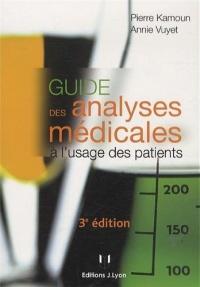 Guide des analyses médicales à l'usage des patients