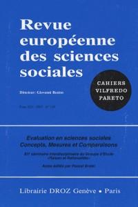 Evaluation en Sciences Sociales. Concepts, Mesure et Comparaisons. Xiie Séminaire