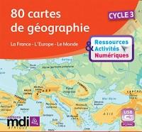 80 Cartes de Géographie Cycle 3