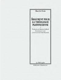 Argument pour la théologie platonicienne