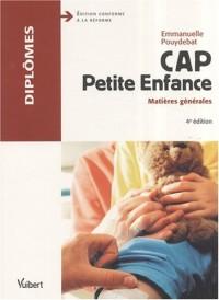 CAP Petite Enfance : Matières générales