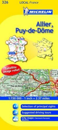 Michelin Map France: Allier, Puy-de-dme 326