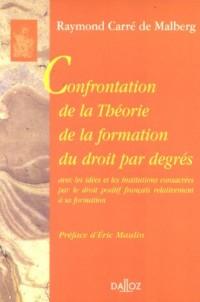 Confrontation de la Théorie de la formation du droit par degrés : Avec les idées et les institutions consacrées par le droit positif français relativement à sa formation