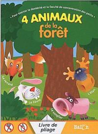 4 animaux de la forêt