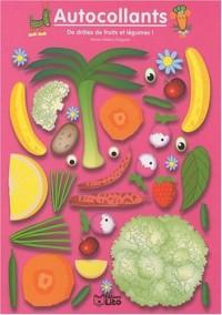 De drôles de fruits et légumes ! Rose - Album d'autocollants - Dès 3 ans
