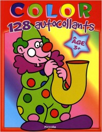 Color 128 autocollants clown